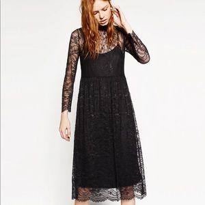 Zara Midi Lace Dress